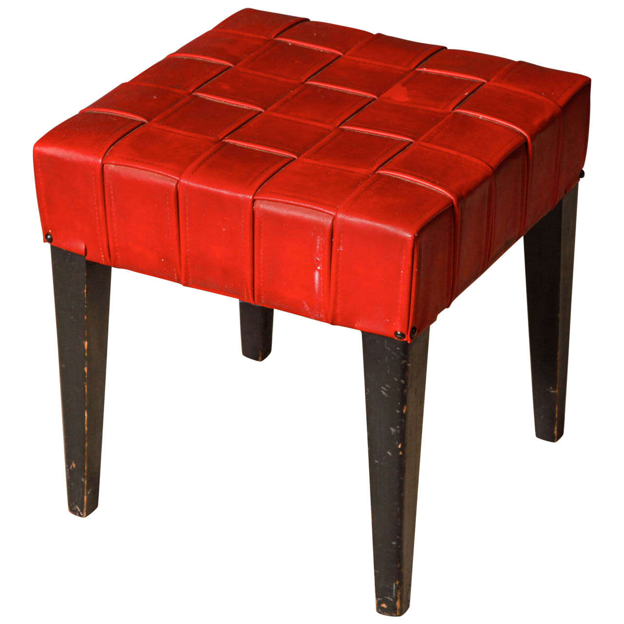Minimalist Red Low Stool At 1stdibs