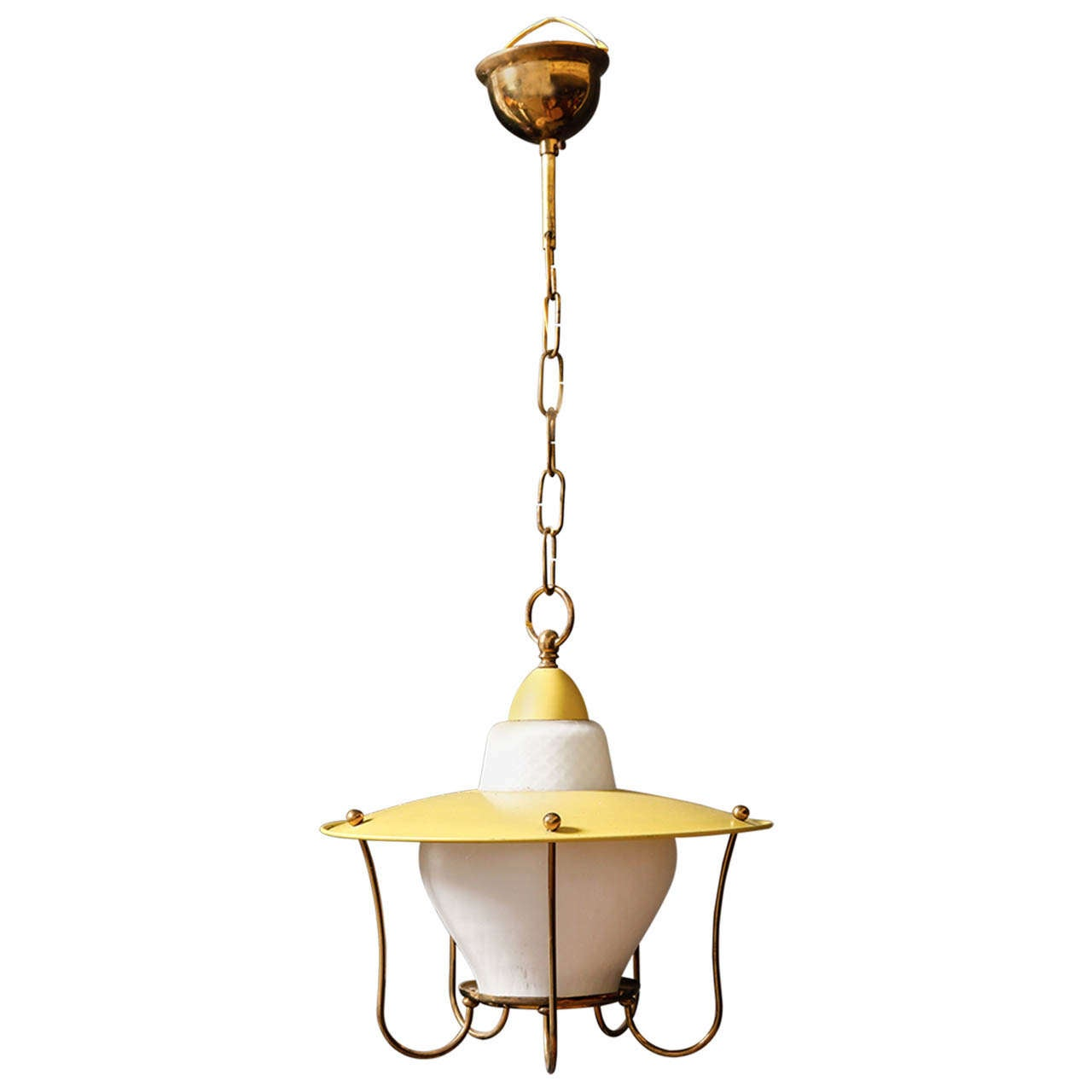whimsical 1950s brass pendant light at 1stdibs