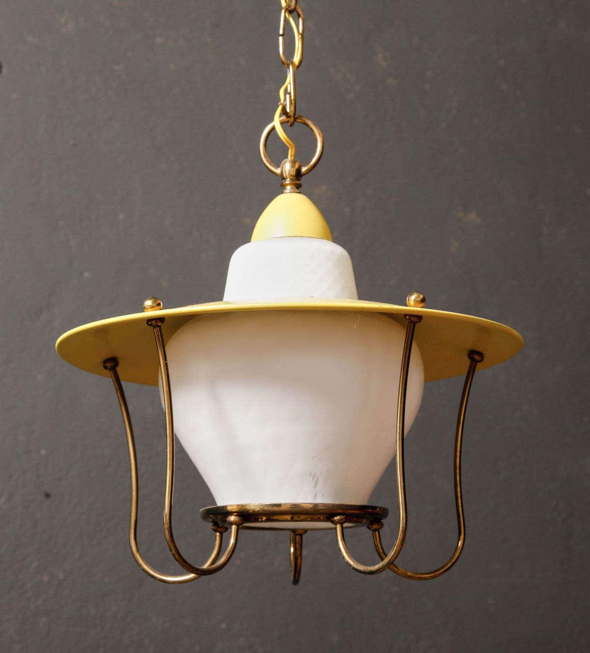 Whimsical 1950s Brass Pendant Light At 1stdibs