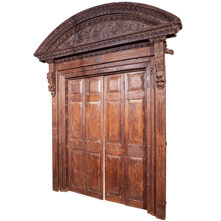 Indian Teak Wood Entry Doors And Surround For Sale At 1stdibs