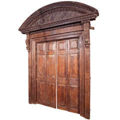 Indian teak wood entry doors and surround