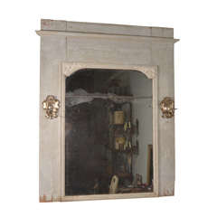 Simple French Trumeau with Period Silver Sconces
