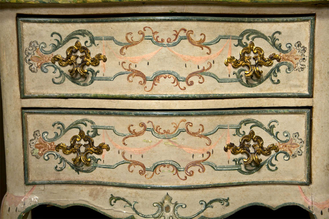 19th Century Faux Marble Continental Commode 2
