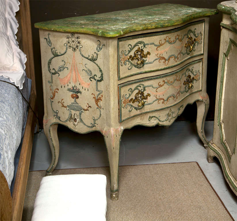 19th Century Faux Marble Continental Commode 5