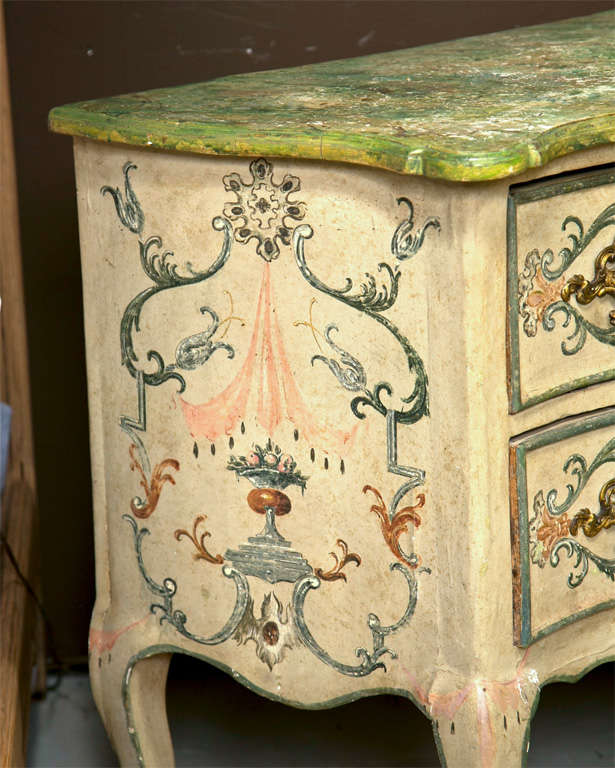 19th Century Faux Marble Continental Commode 6
