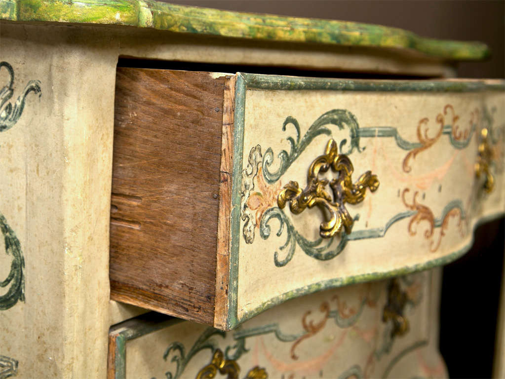 19th Century Faux Marble Continental Commode 7