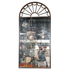 Steel-Framed Mirror with Double-Mirrored Plate