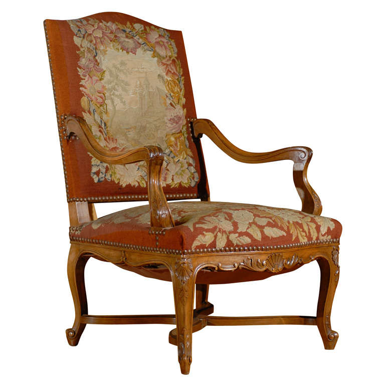 19th Century Regency Style French Arm Chair 1
