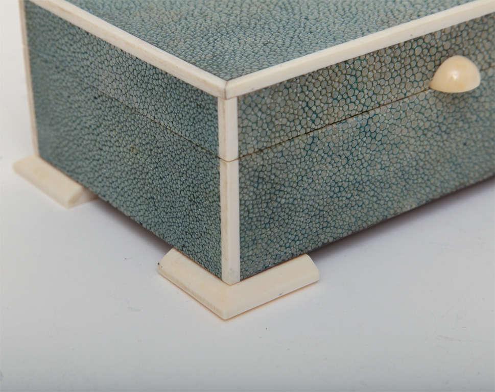 Art Deco Shagreen & Ivory Box For Sale 1