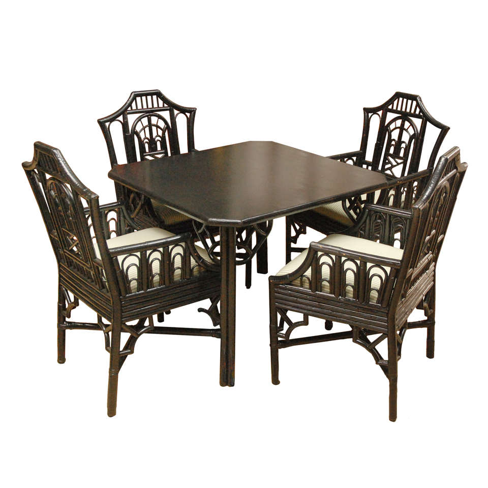 Chinoiserie table and chairs at stdibs