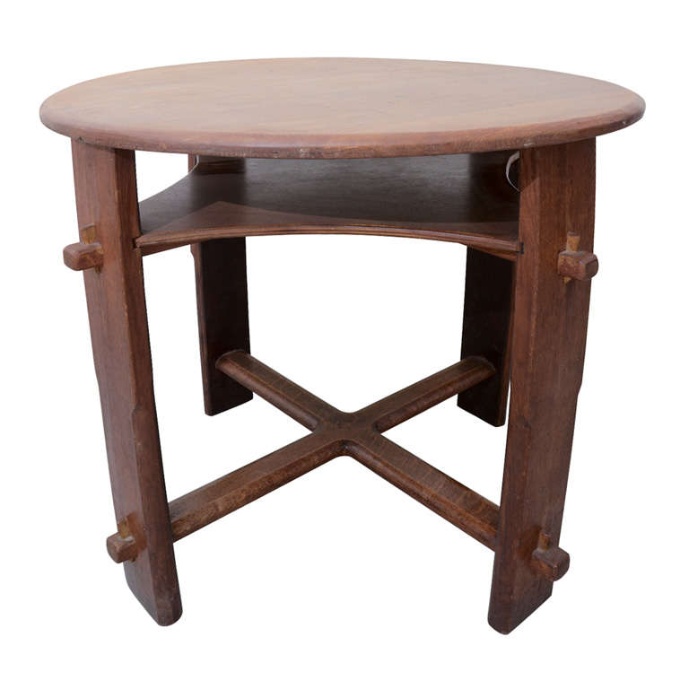 Arts and Crafts Style Round Table