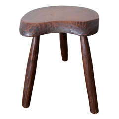 Wooden Stool in the Manner of Charlotte Perriand