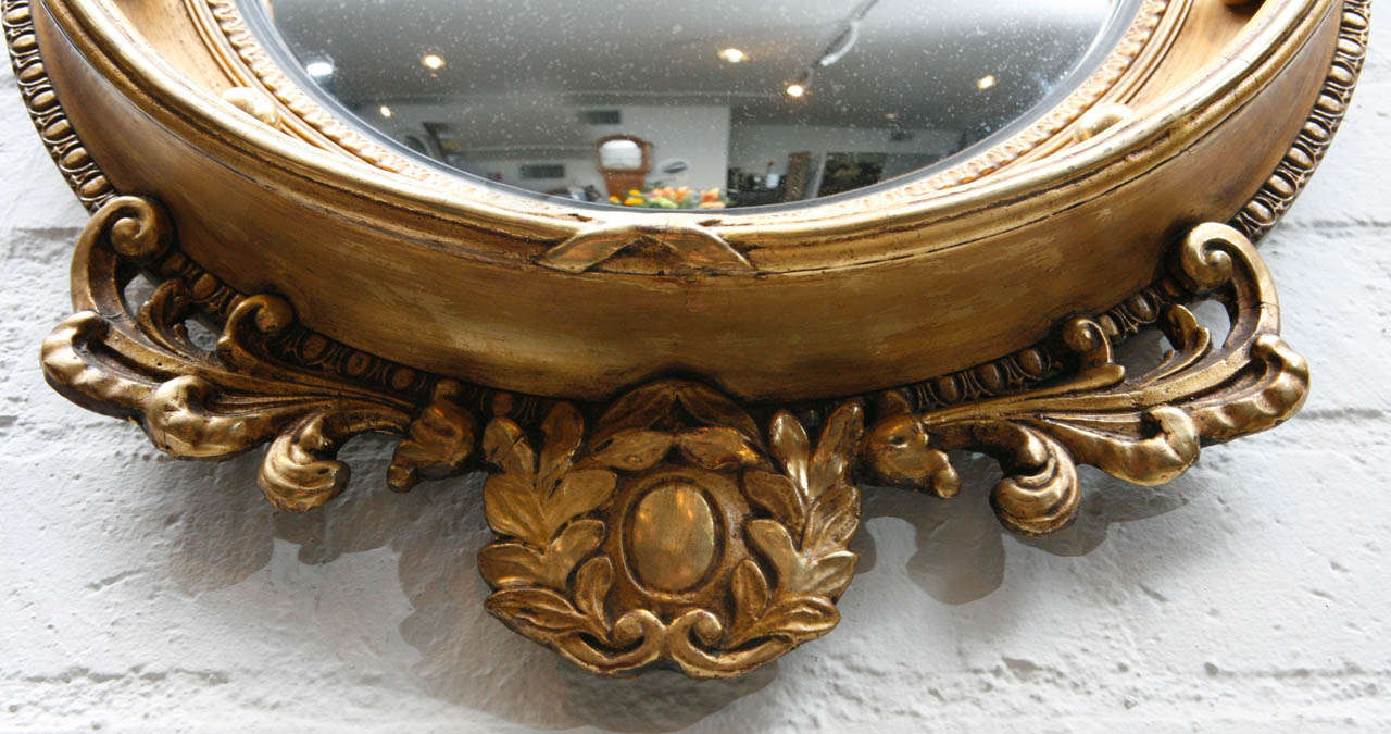 Early 1900 S Federal Convex Mirror W Eagle At 1stdibs