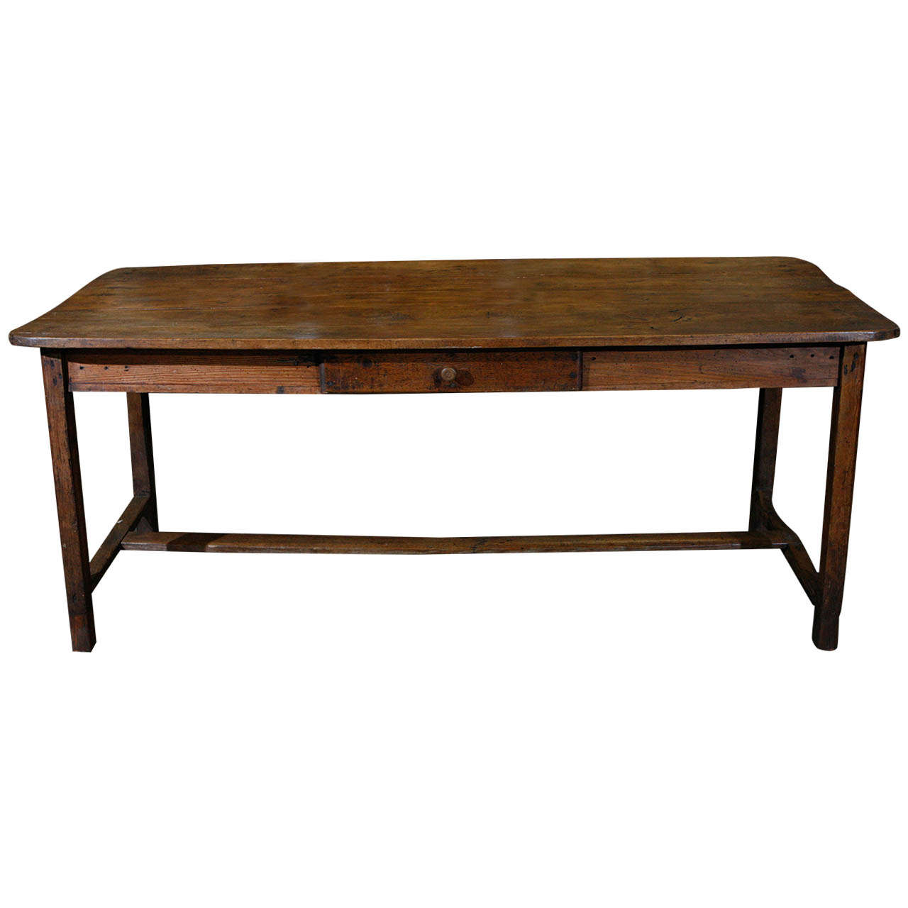 French country dining table desk with drawer at 1stdibs Dining table with drawer