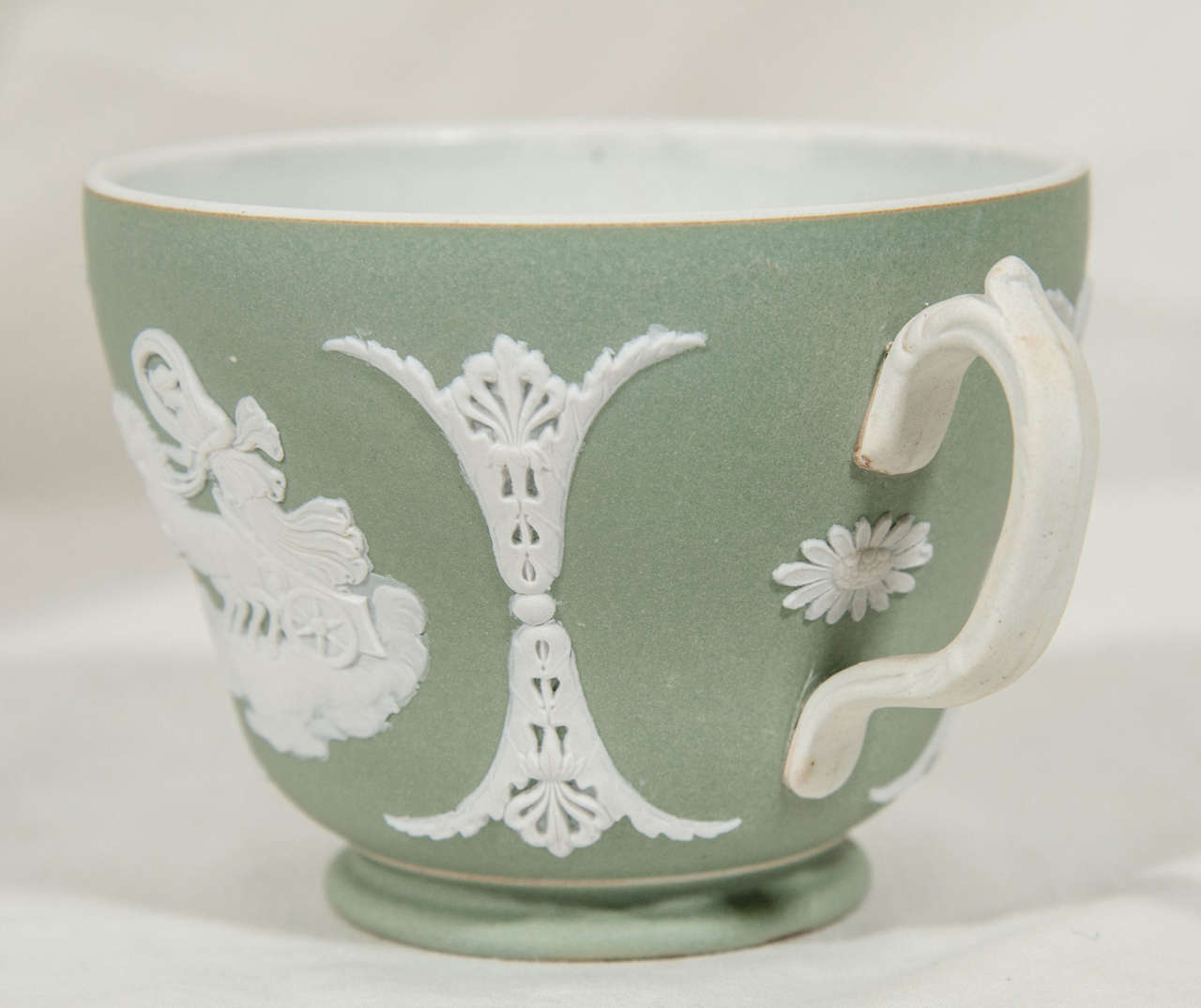 Antique Wedgwood Jasperware Tea Cup And Saucer At 1stdibs
