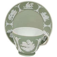 Antique Wedgwood Jasperware Tea Cup and Saucer