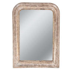Silvered Louis Philippe Mirror