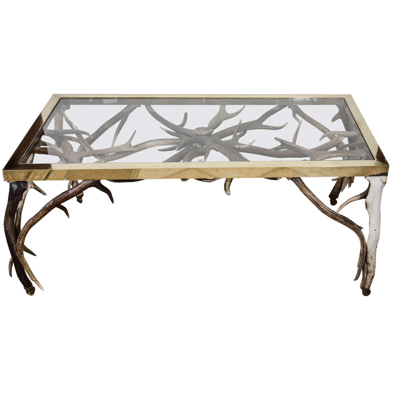 antler coffee table at 1stdibs With antler coffee table