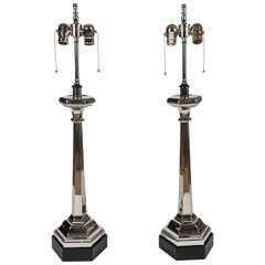 Vintage Church Candlestick Lamps