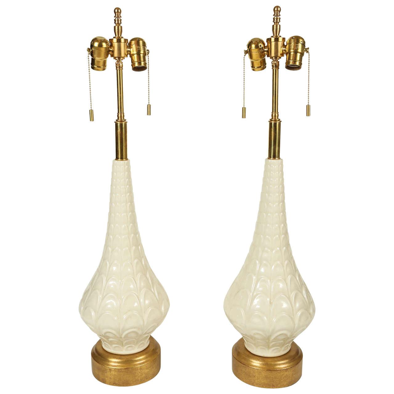 Danish Mid-Century Modern Pottery Lamps