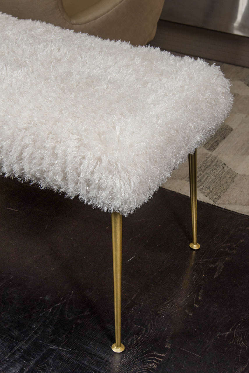 faux fur bench for sale at 1stdibs