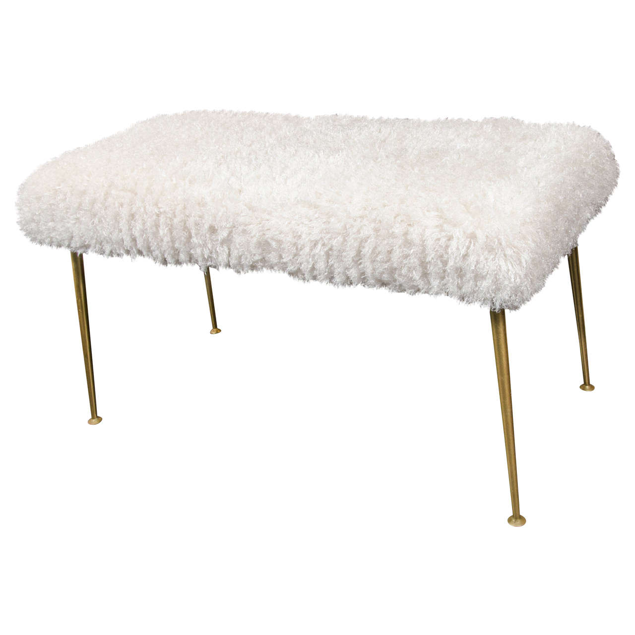Faux Fur Bench at 1stdibs