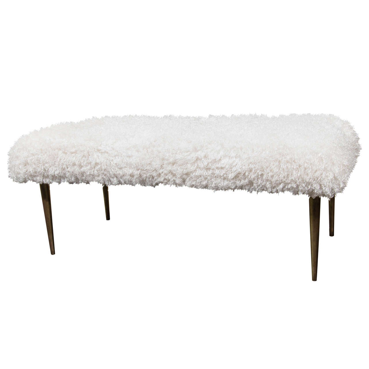 French Faux Fur Bench For Sale