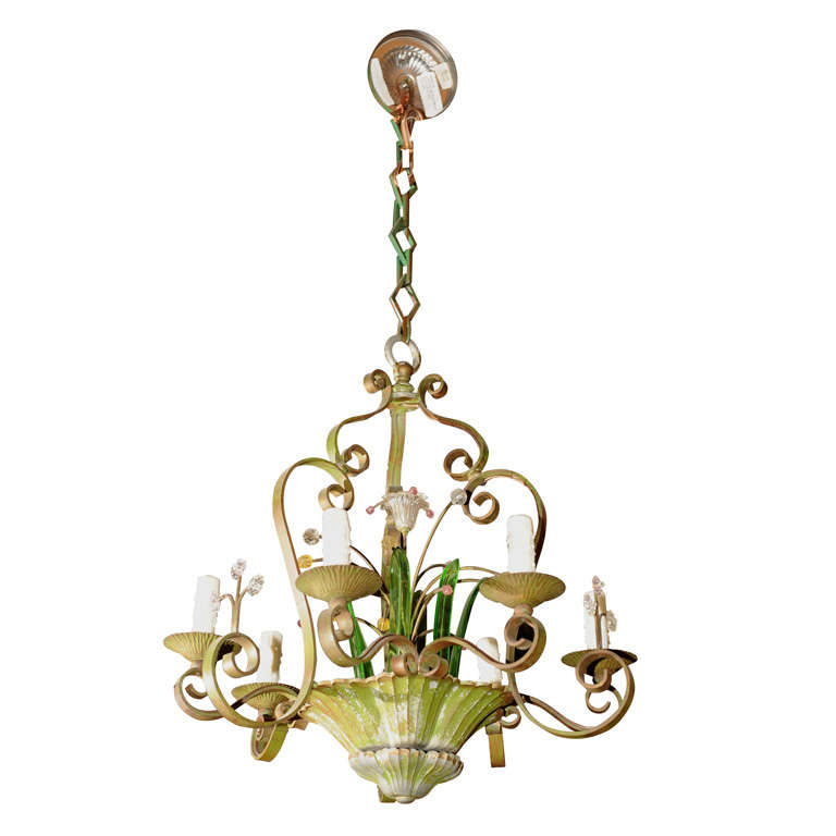 Whimsical French Art Deco Chandelier At 1stdibs