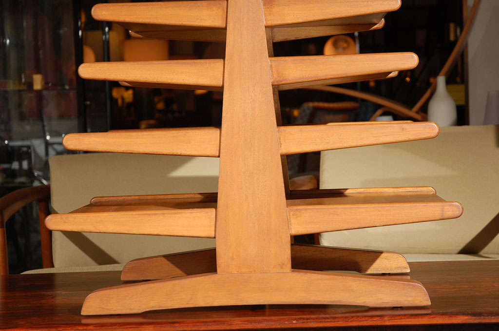 Mid-20th Century Edward Wormley for Dunbar magazine tree stand rack For Sale