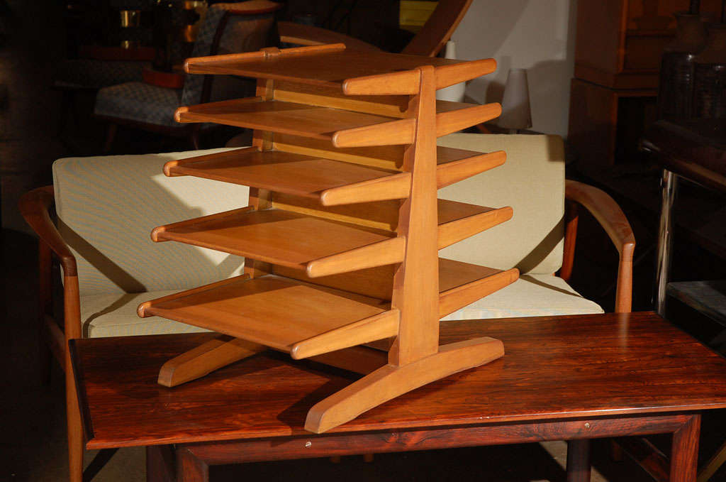 Edward Wormley for Dunbar magazine tree stand rack For Sale 2