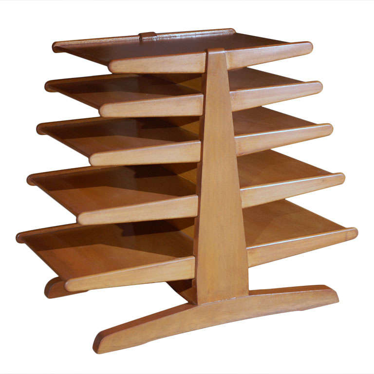 Edward Wormley for Dunbar magazine tree stand rack For Sale