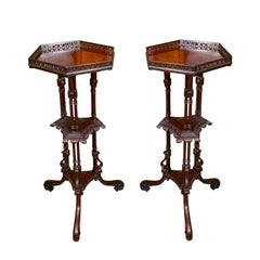 Pair of George II Mahogany Pedestals