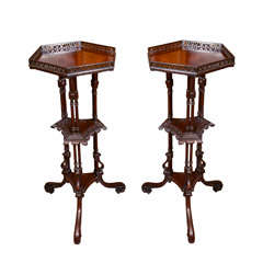 Pair of George II Mahogany Pedestals