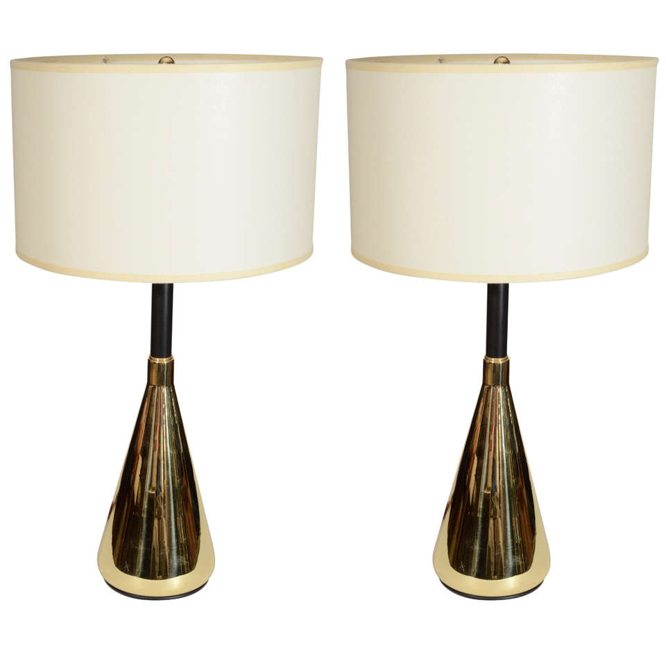 this mid century polished brass table lamps is no longer available. Black Bedroom Furniture Sets. Home Design Ideas