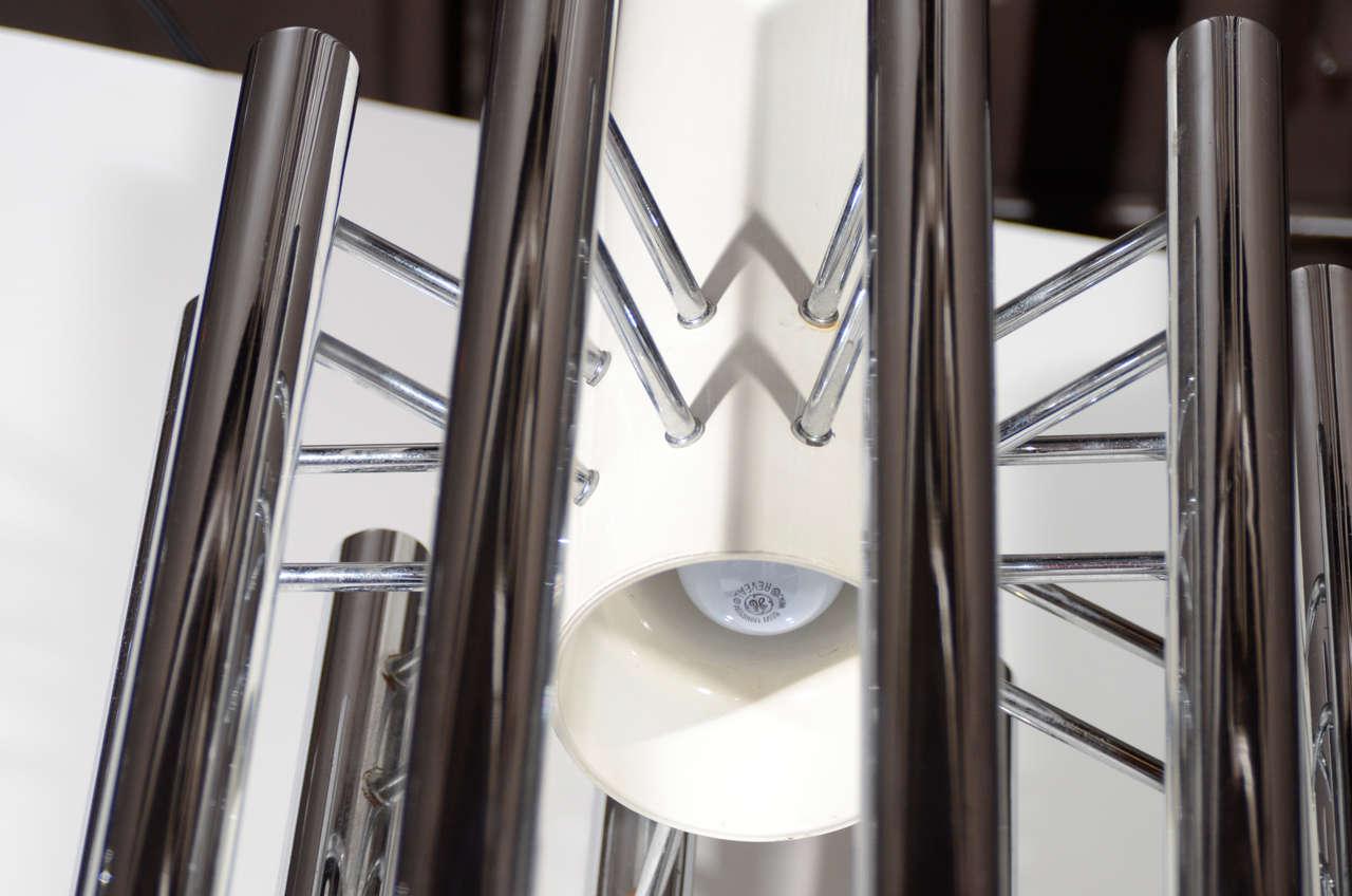 Ultra Modernist Chandelier With Ten Suspended Tubular