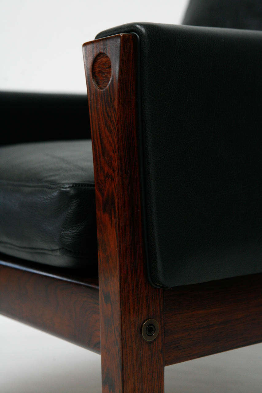 Pair Of Hans Wegner Ap 62 Lounge Chairs At 1stdibs