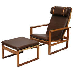 Borge Mogensen Lounge Chair And Ottoman