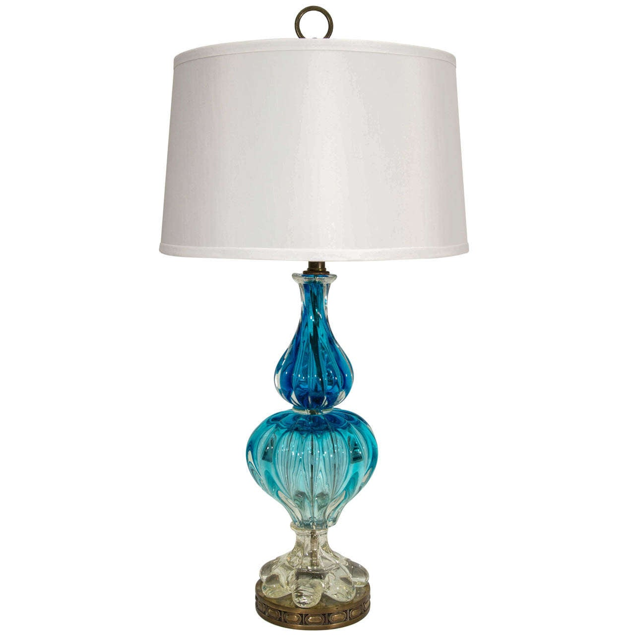 blue murano glass lamp at 1stdibs. Black Bedroom Furniture Sets. Home Design Ideas
