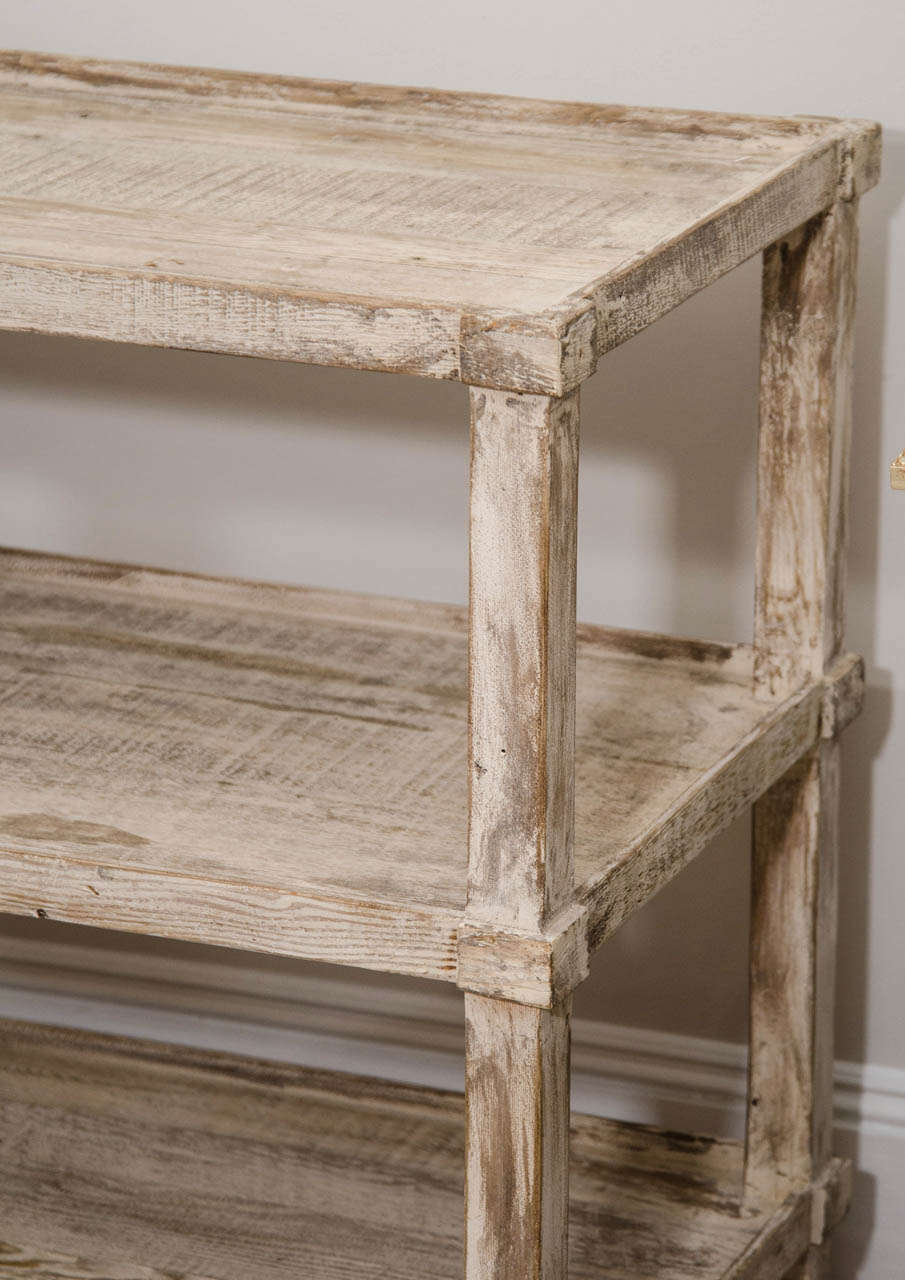 A Long White Washed Pine Table At 1stdibs