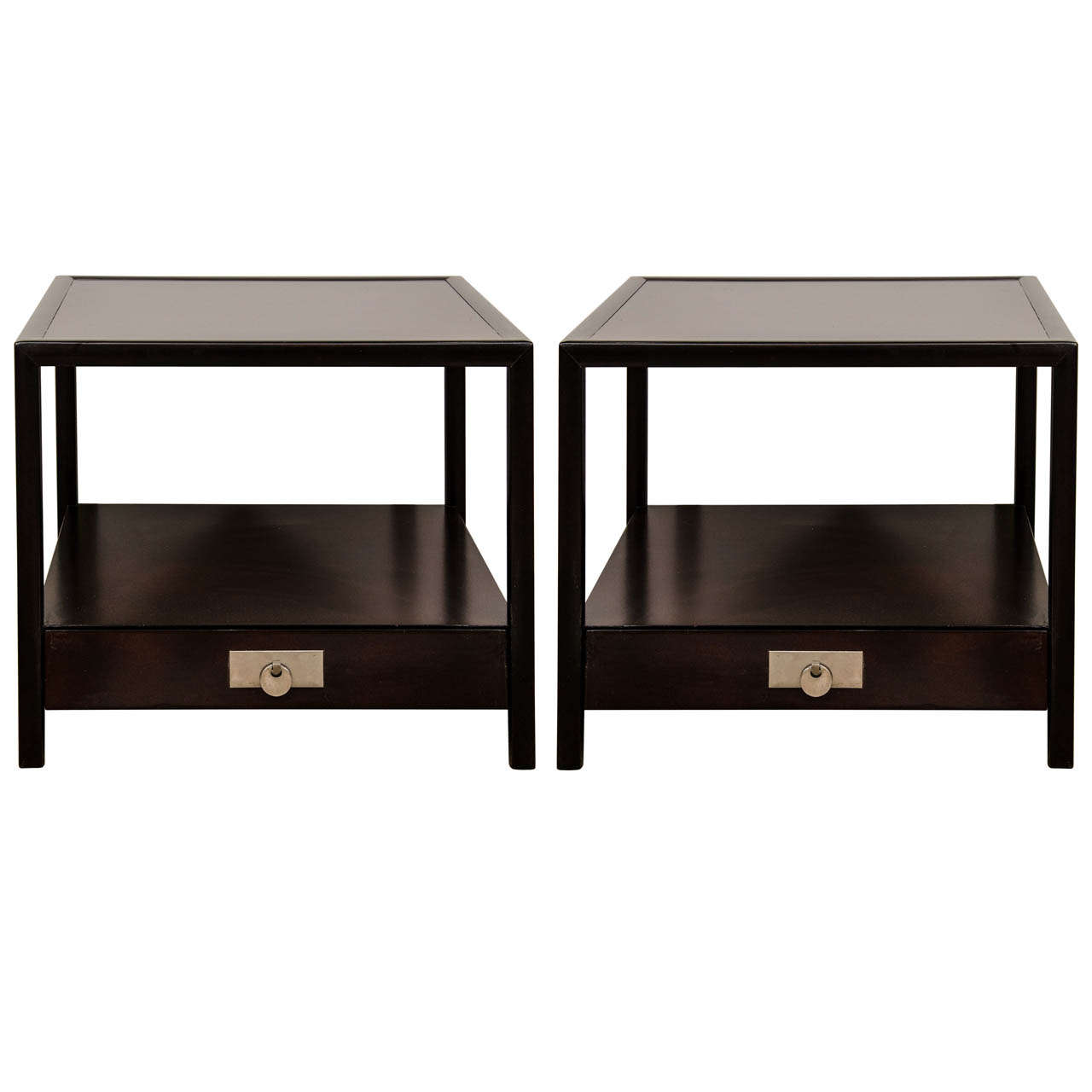 A Pair Of Michael Taylor End Tables At 1stdibs