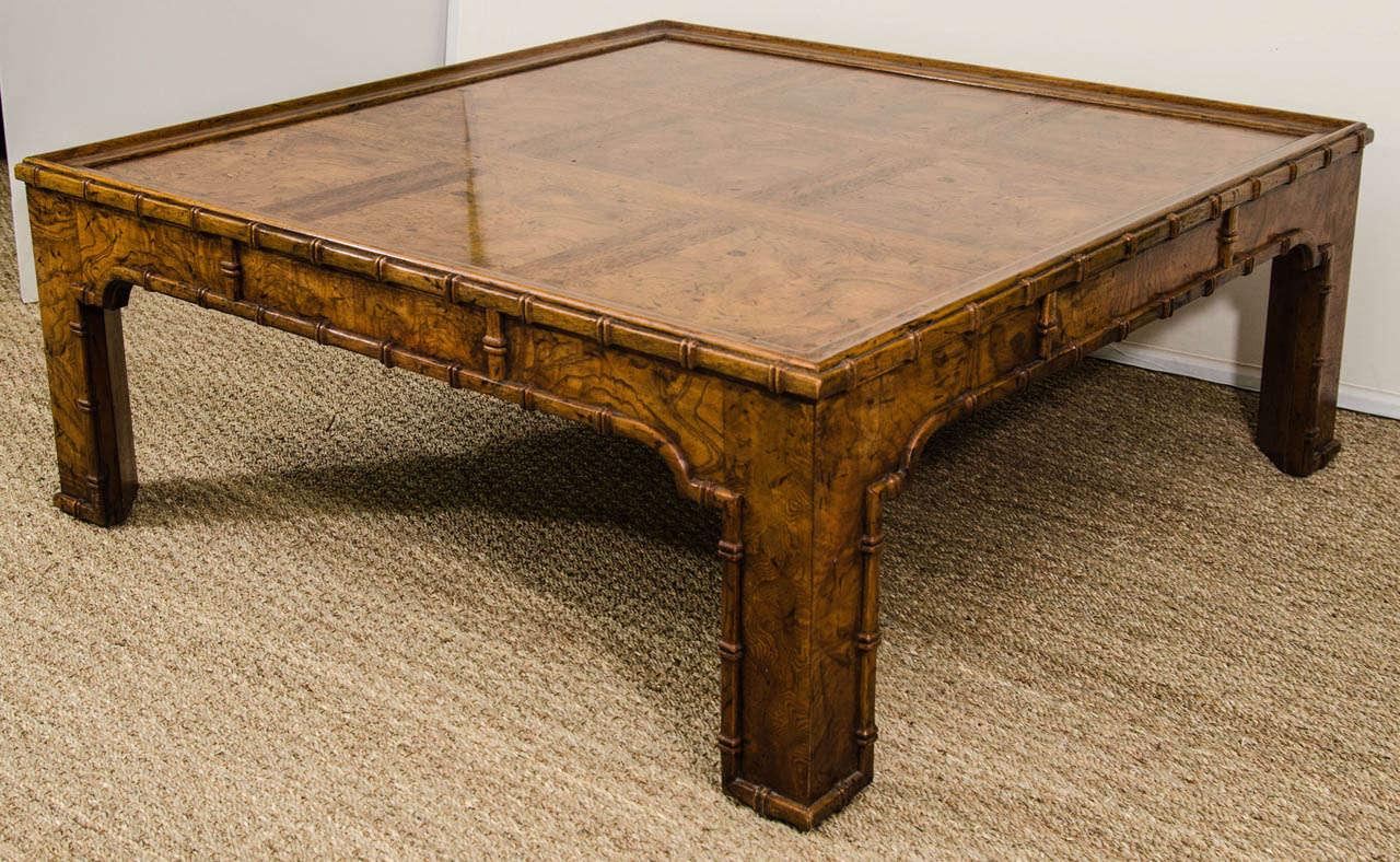 Pin Bamboo Coffee Table And Ornate Details Shape This Chic L