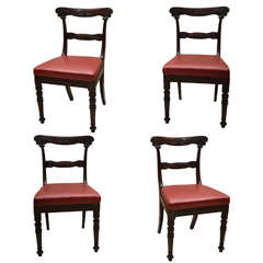 Four Wm. 1V Anglo Indian Carved Dining Chairs