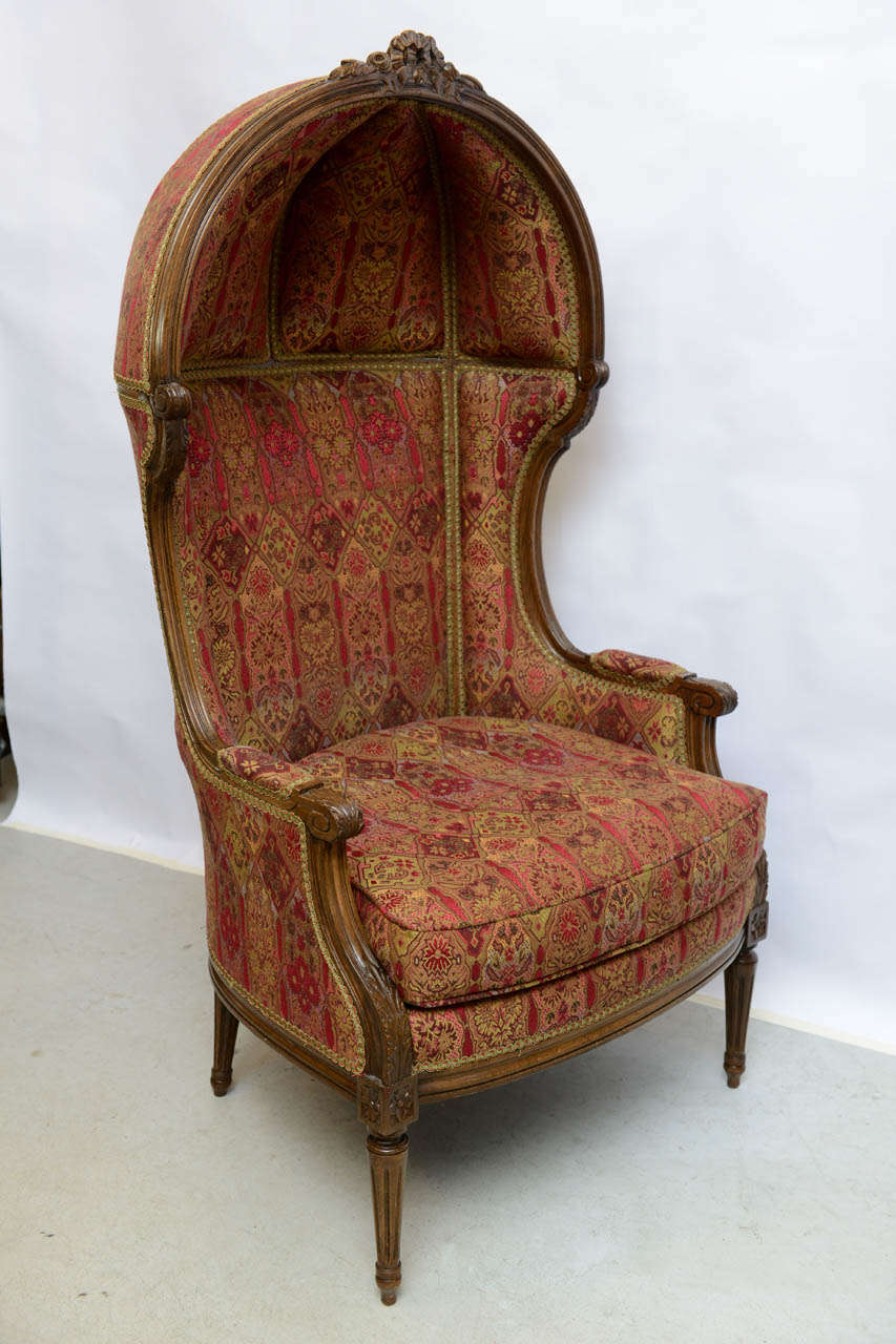 Louis Xvi Style French Hooded Chair At 1stdibs