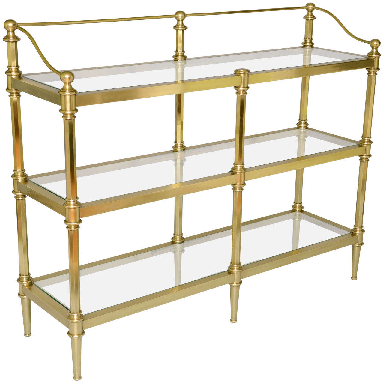 brass etagere at 1stdibs. Black Bedroom Furniture Sets. Home Design Ideas