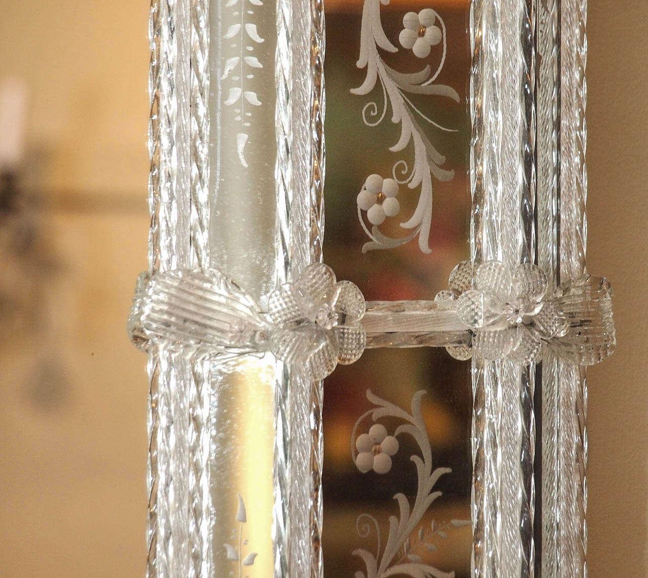 Antique Venetian Mirror circa 1920s-1930s 5