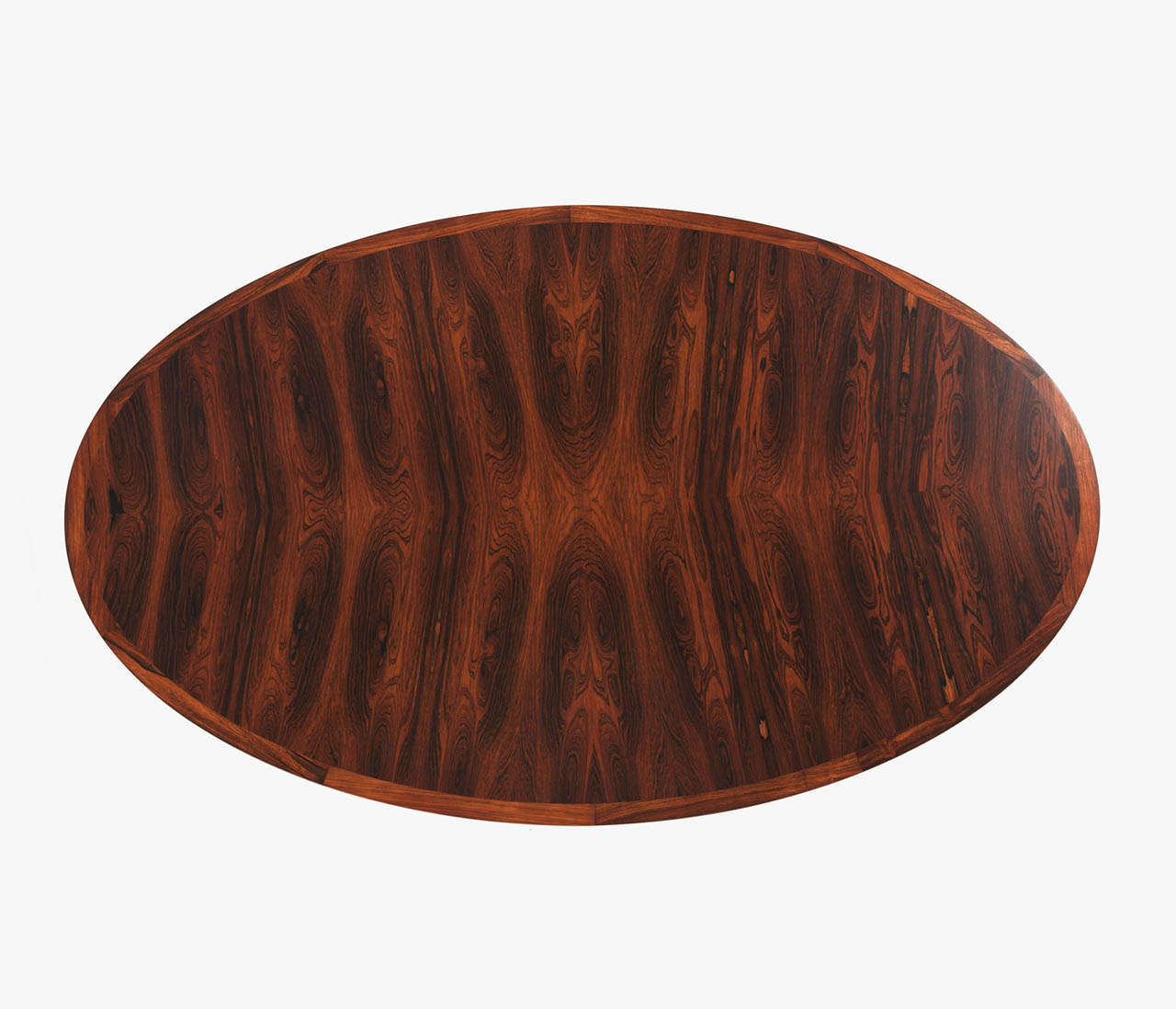 Oval Rosewood Table with Height Adjustable Pedestal Base ...