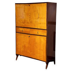 Vintage Wooden Bar Cabinet by Giuseppe Fiori*