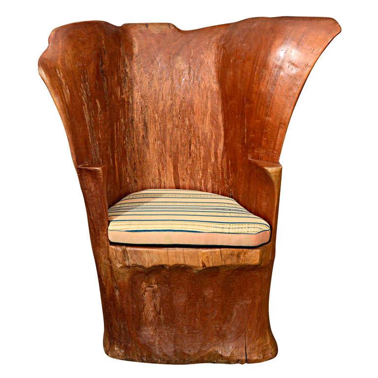 Organic Wood Stump Chair 1