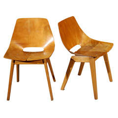 Pair of Plywood Chairs.