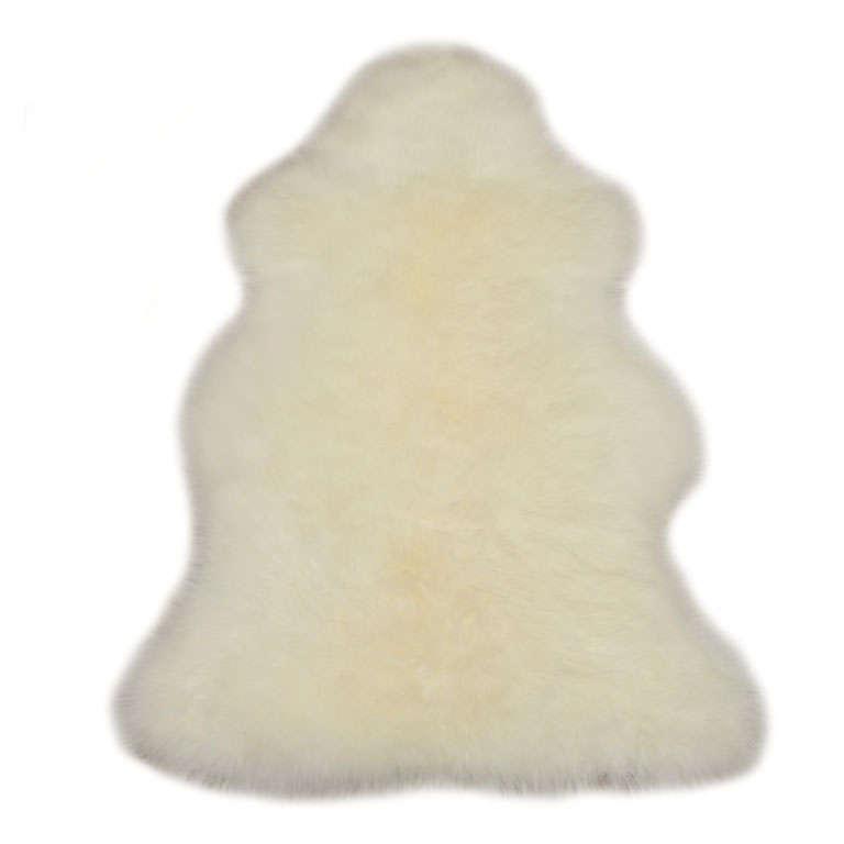 Ivory sheepskin rug, 20th century